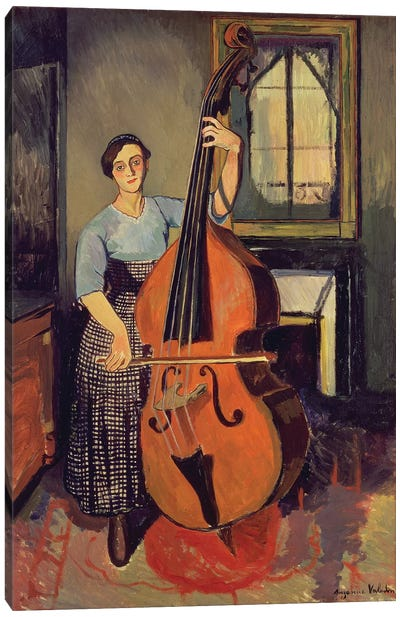 Woman with a Double Bass, 1908 Canvas Art Print