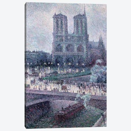 Notre Dame, c.1900  Canvas Print #BMN9688} by Maximilien Luce Canvas Print