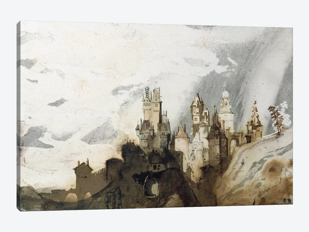 Le Gai Chateau  by Victor Hugo 1-piece Art Print