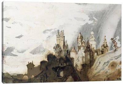 Le Gai Chateau  Canvas Art Print