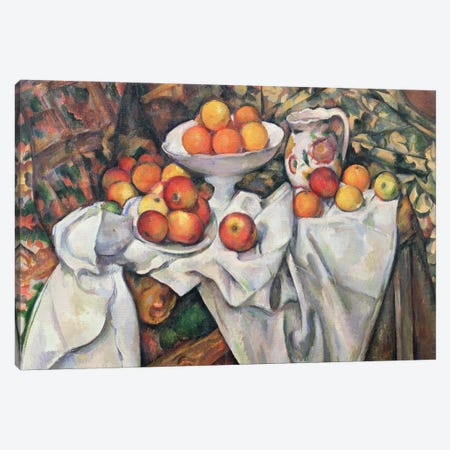 Apples and Oranges, 1895-1900  Canvas Print #BMN9697} by Paul Cezanne Art Print