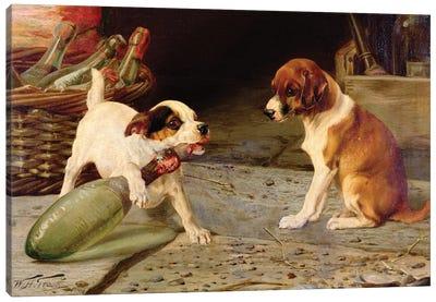 Uncorking the Bottle, 1887  Canvas Art Print