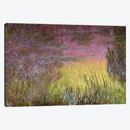 Waterlilies at Sunset, 1915-26 (oil on canvas) Canvas Print #BMN96} by Claude Monet Canvas Wall Art