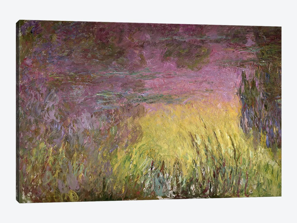 Waterlilies at Sunset, 1915-26 (oil on canvas) by Claude Monet 1-piece Canvas Print