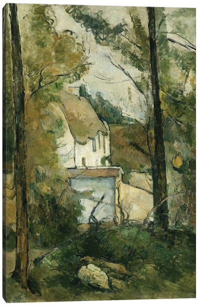 House in the Trees, Auvers, 1879  Canvas Art Print