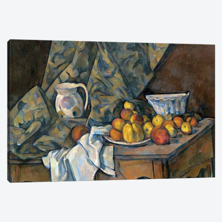 Still Life with Apples and Peaches, c.1905  Canvas Print #BMN9715} by Paul Cezanne Canvas Artwork