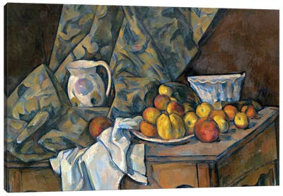 Still Life with Apples and Peaches, c.1905  Canvas Art Print