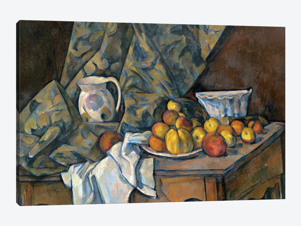 Still Life with Apples and Peaches, c.1905  by Paul Cezanne 1-piece Art Print
