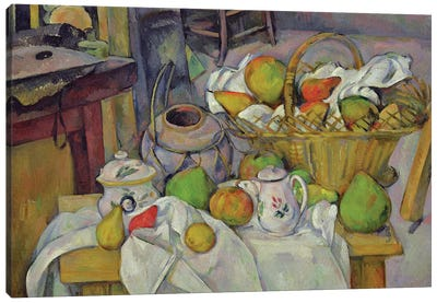 Still life with basket, 1888-90  Canvas Art Print