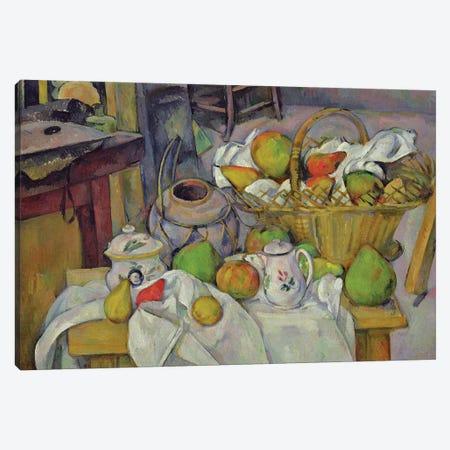 Still life with basket, 1888-90  Canvas Print #BMN9717} by Paul Cezanne Canvas Art