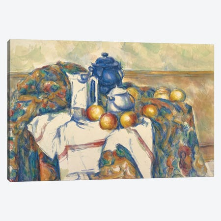 Still Life with Blue Pot, c.1900  Canvas Print #BMN9718} by Paul Cezanne Art Print