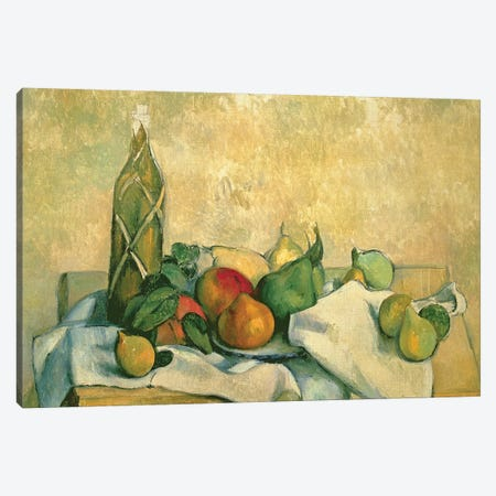 Still Life with Bottle of Liqueur, 1888-90  Canvas Print #BMN9719} by Paul Cezanne Art Print