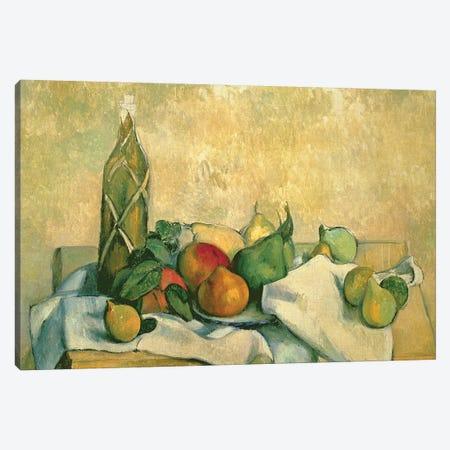 Still Life with Bottle of Liqueur, 1888-90  Canvas Print #BMN9719} by Paul Cezanne Art Print
