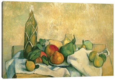 Still Life with Bottle of Liqueur, 1888-90  Canvas Art Print
