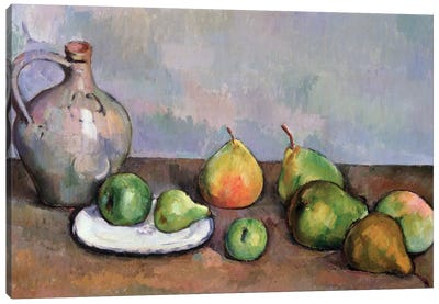 Still Life with Pitcher and Fruit, 1885-87  Canvas Art Print