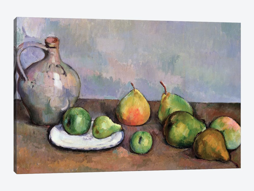 Still Life with Pitcher and Fruit, 1885-87  by Paul Cezanne 1-piece Canvas Artwork