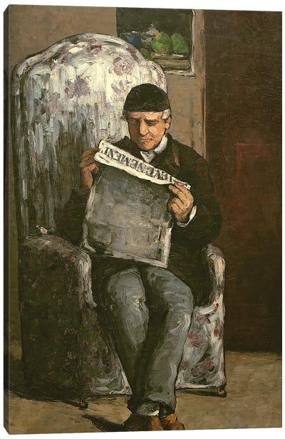 """The Artist's Father, Reading """"L'Événement"""", 1866  Canvas Art Print"""