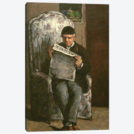 """The Artist's Father, Reading """"L'Événement"""", 1866  3-Piece Canvas #BMN9724} by Paul Cezanne Canvas Art Print"""