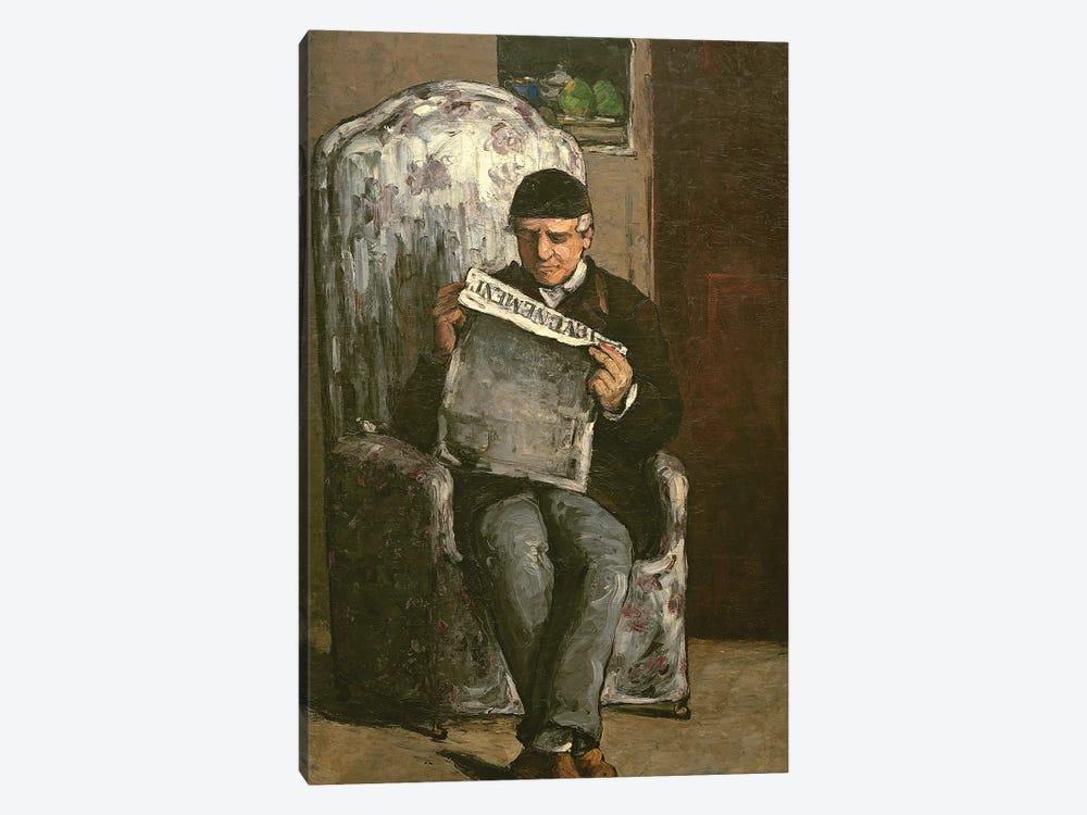 """The Artist's Father, Reading """"L'Événement"""", 1866  by Paul Cezanne 1-piece Art Print"""