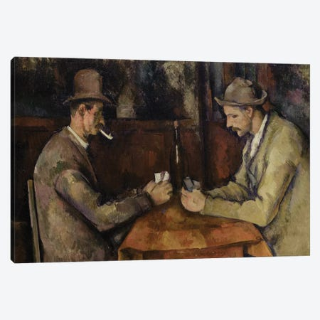 The Card Players, 1893-96  Canvas Print #BMN9725} by Paul Cezanne Art Print