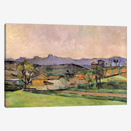 The Chaine de l'Etoile with the Pilon du Roi, c.1878-79  Canvas Print #BMN9726} by Paul Cezanne Art Print