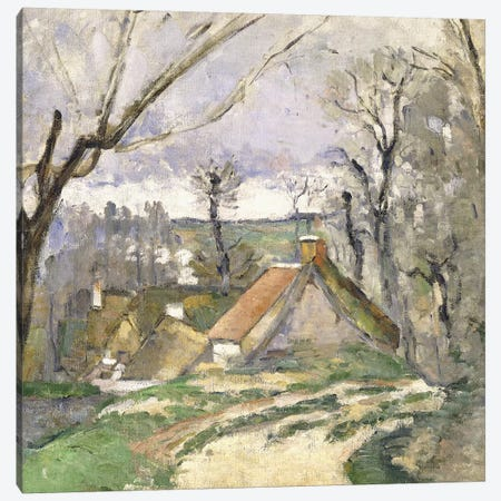 The Cottages of Auvers, 1872-73  Canvas Print #BMN9727} by Paul Cezanne Canvas Art Print