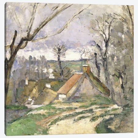 The Cottages of Auvers, 1872-73  Canvas Print #BMN9727} by Paul Cezanne Canvas Art Print