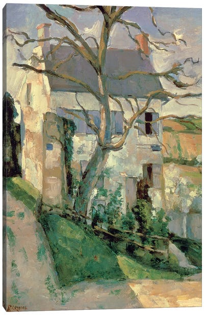 The House and the Tree, c.1873-74  Canvas Art Print