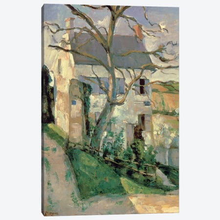 The House and the Tree, c.1873-74  Canvas Print #BMN9729} by Paul Cezanne Canvas Artwork