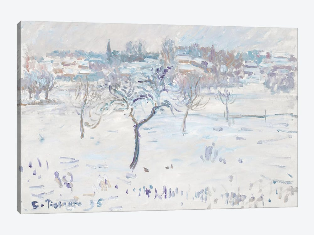 Snowy Landscape at Eragny with an Apple Tree, 1895  1-piece Canvas Art