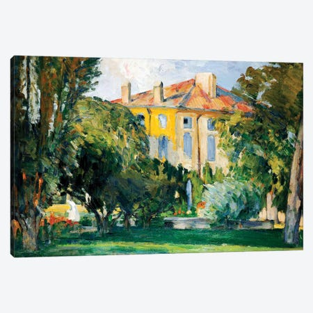 The House at Jas de Bouffan, 1882-85  Canvas Print #BMN9730} by Paul Cezanne Canvas Print