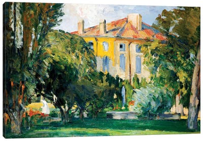 The House at Jas de Bouffan, 1882-85  Canvas Art Print
