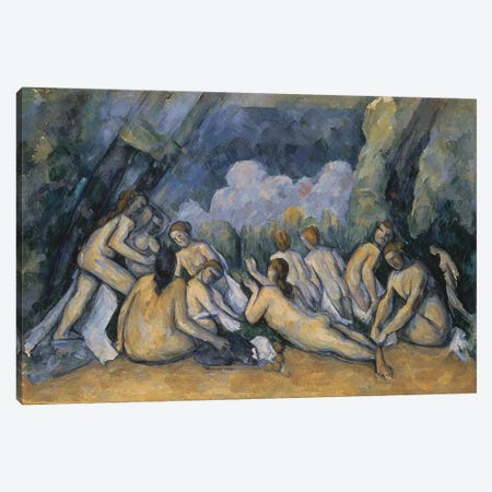 The Large Bathers, c.1900-05  Canvas Print #BMN9731} by Paul Cezanne Canvas Print