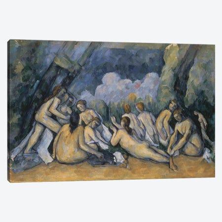 The Large Bathers, c.1900-05  Canvas Print #BMN9731} by Paul Cezanne Canvas Print