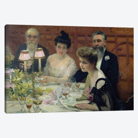The Corner of the Table, 1904  Canvas Print #BMN9738} by Paul Chabas Canvas Print