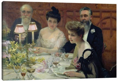 The Corner of the Table, 1904  Canvas Art Print