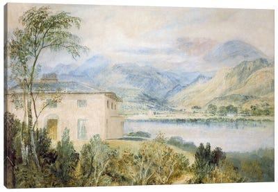 Tent Lodge, by Coniston Water, 1818, Canvas Art Print