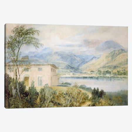 Tent Lodge, by Coniston Water, 1818,  Canvas Print #BMN973} by J.M.W. Turner Canvas Artwork