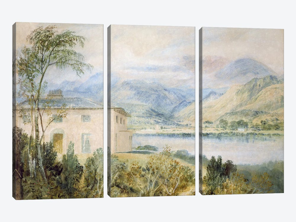 Tent Lodge, by Coniston Water, 1818,  by J.M.W. Turner 3-piece Canvas Art Print