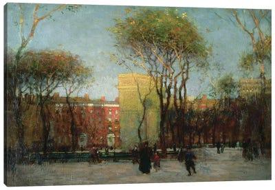 Washington Square, New York, c.1900  Canvas Art Print