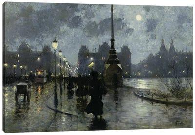 Copenhagen by night Canvas Art Print