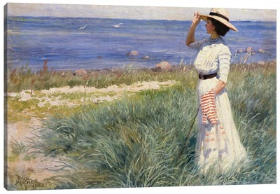 Looking out to Sea, 1910  Canvas Art Print