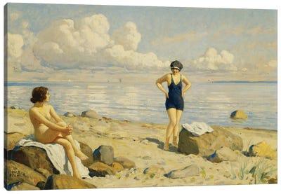 On the Beach,  Canvas Art Print
