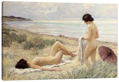 Summer on the Beach  Canvas Art Print