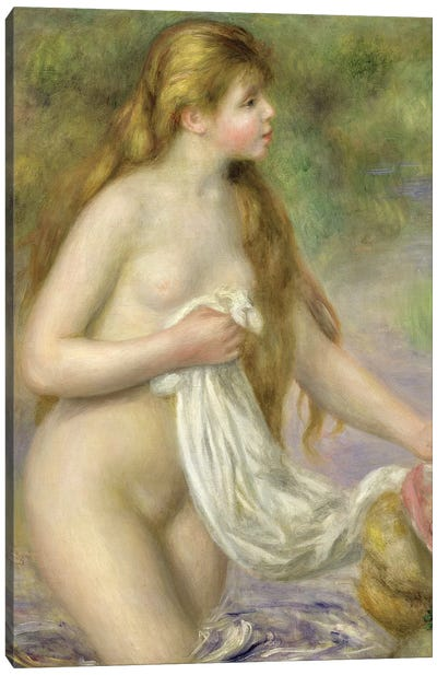 Bather with long hair, c.1895  Canvas Art Print