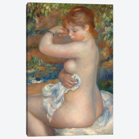 Bather; Baigneuse, 1888  Canvas Print #BMN9757} by Pierre-Auguste Renoir Canvas Wall Art