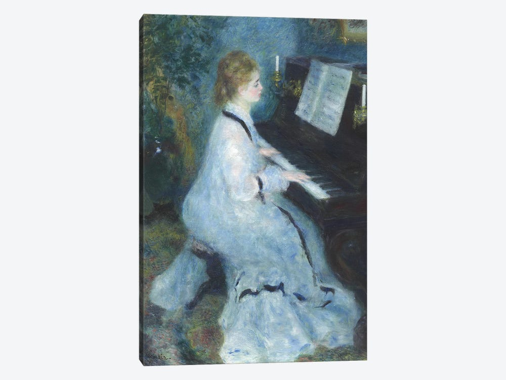 Woman at the Piano, 1875-76  by Pierre-Auguste Renoir 1-piece Canvas Wall Art