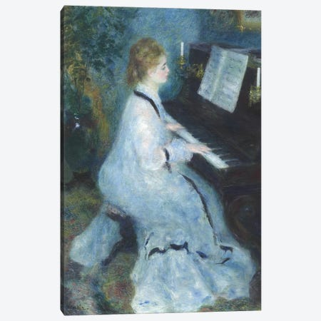 Woman at the Piano, 1875-76  Canvas Print #BMN9758} by Pierre-Auguste Renoir Canvas Art Print