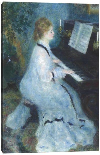 Woman at the Piano, 1875-76  Canvas Art Print