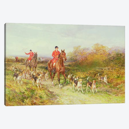 Hunting Scene Canvas Print #BMN975} by Heywood Hardy Art Print